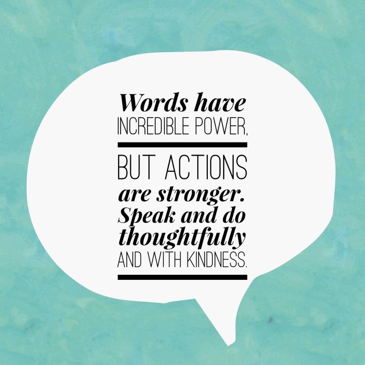 speak with kindness